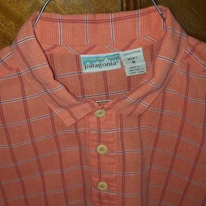 Patagonia open weave salmon camp shirt, Medium